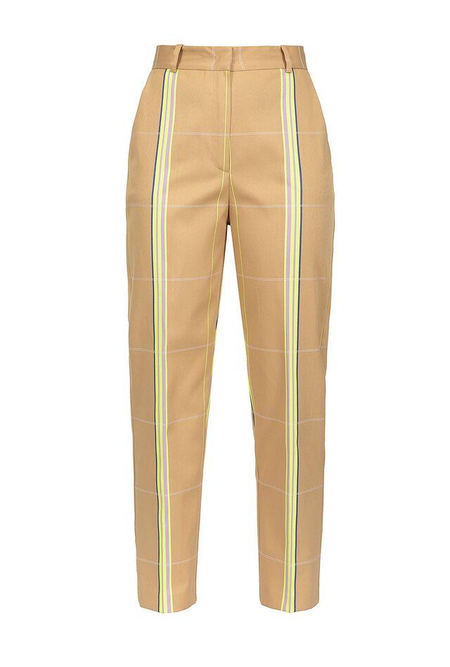 Pantaloni in cotone a righe
