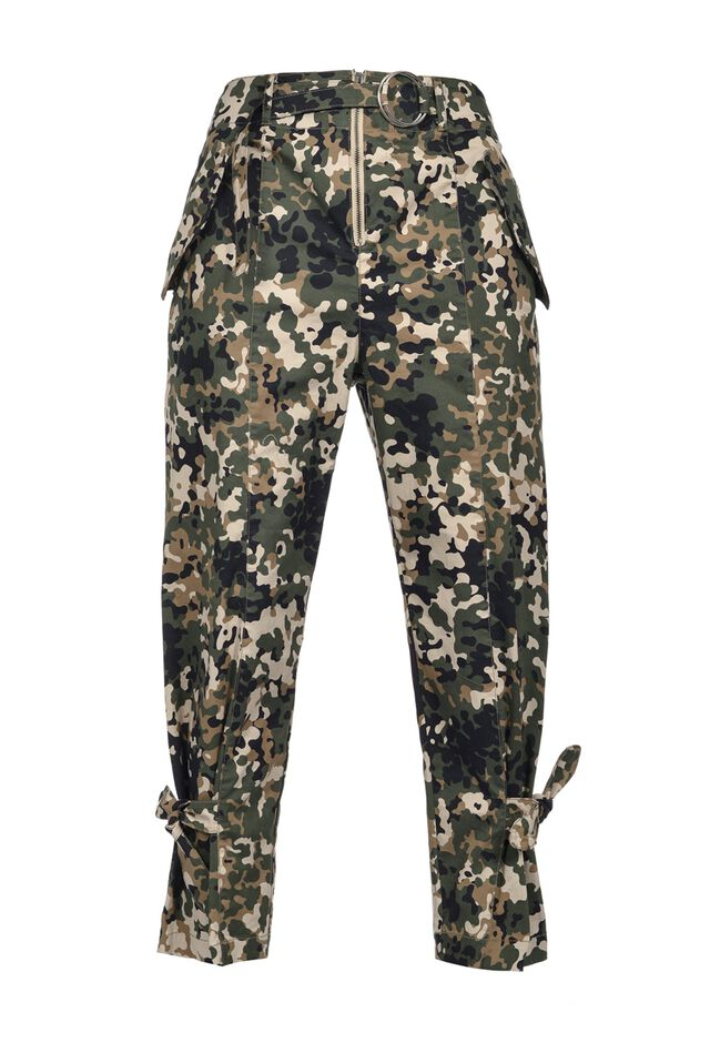 Military cargo-style trousers