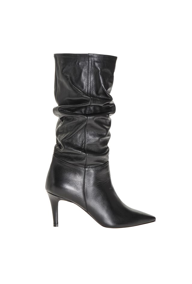 Nappa finish leather boots