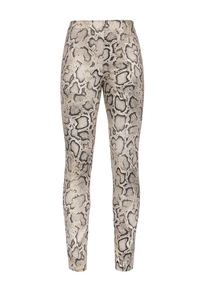 Pantaloni skinny in ottoman stampa snake