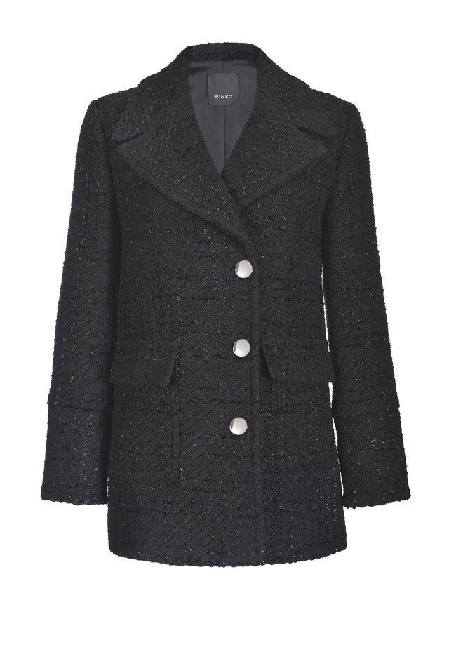 Lurex bouclé tweed coat