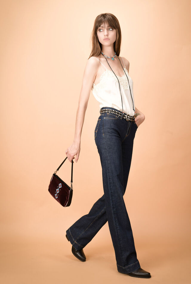 Jeans bootcut a vita alta
