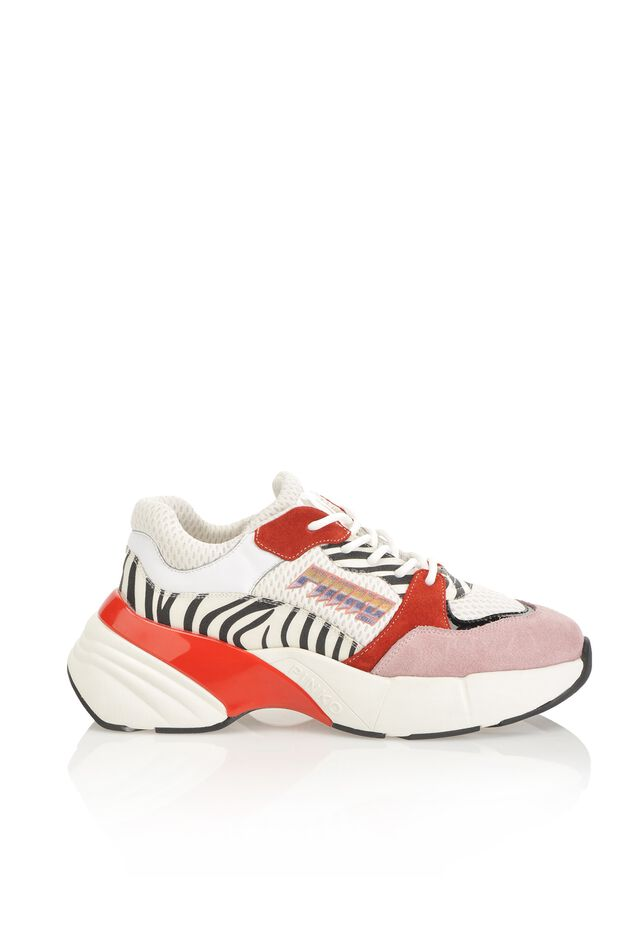 Sneakers Shoes To Rock con inserti stampa zebra