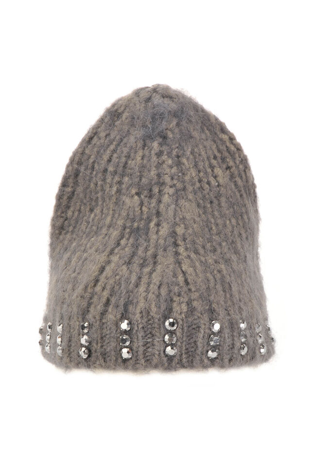 Wool hat with rhinestones