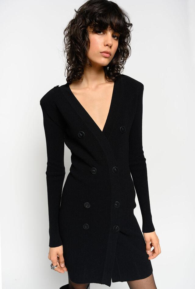 Figure-hugging knit dress