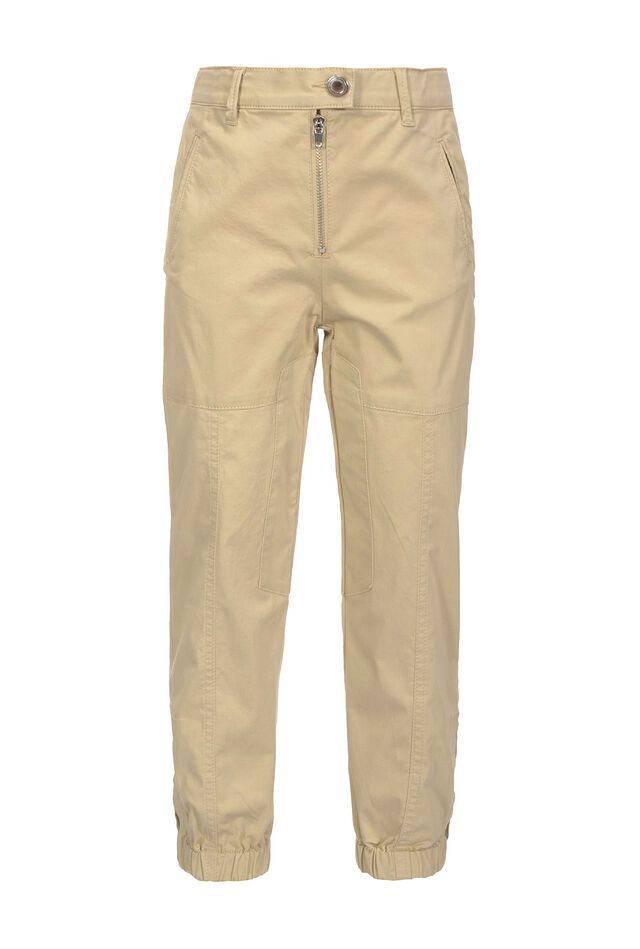 Pantaloni cargo in raso stretch