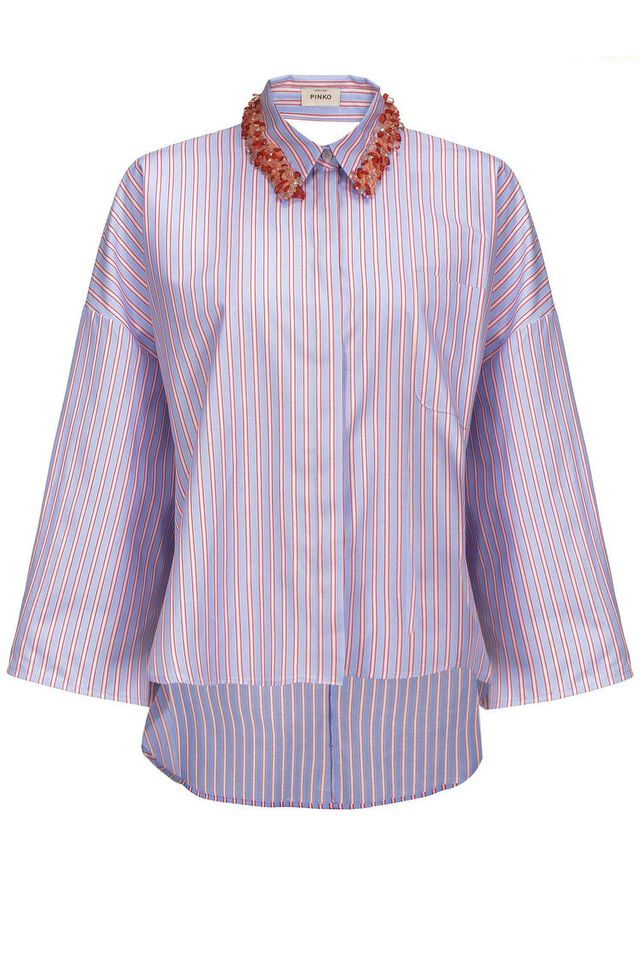 Shirt in striped Oxford cotton