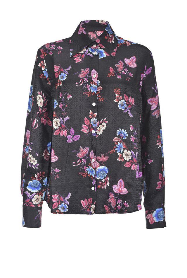 Camicia in jacquard stampa fiore