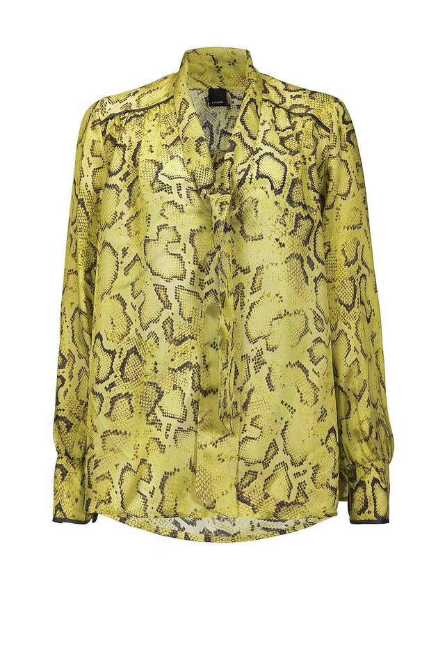 Blusa in twill stampa snake