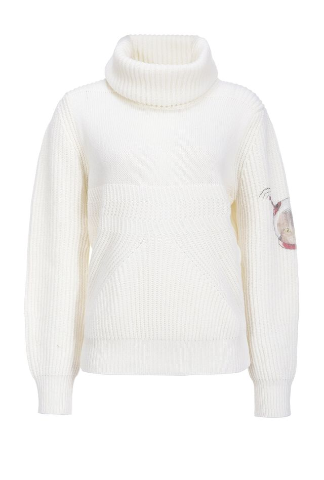 Space Cat ribbed pullover