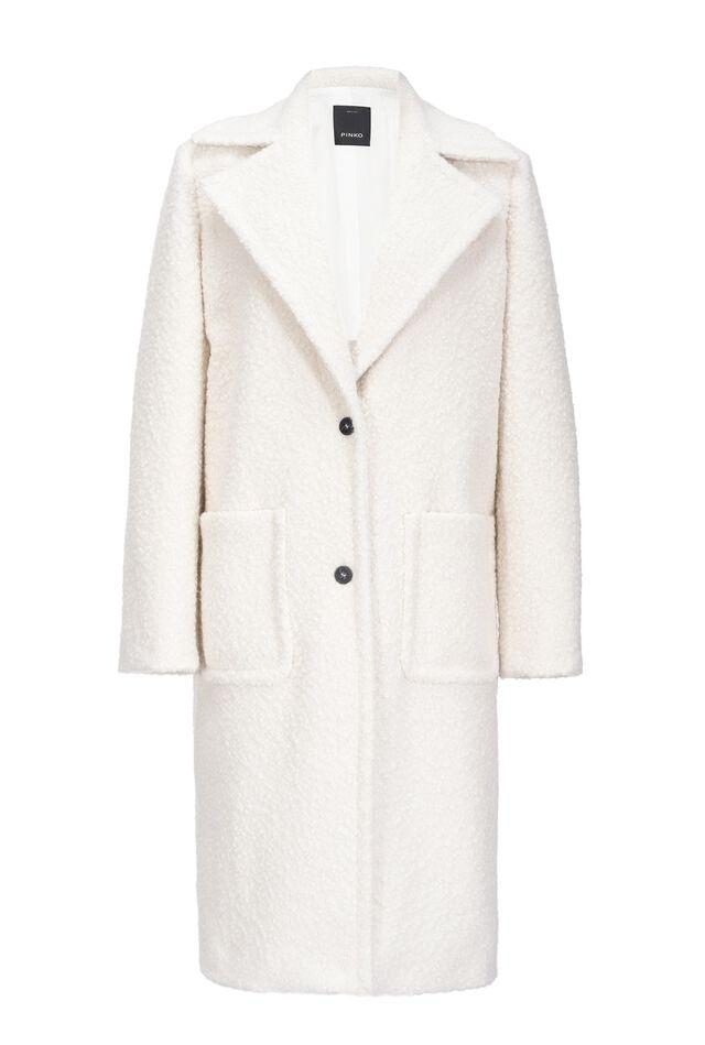 Long shearling-look coat