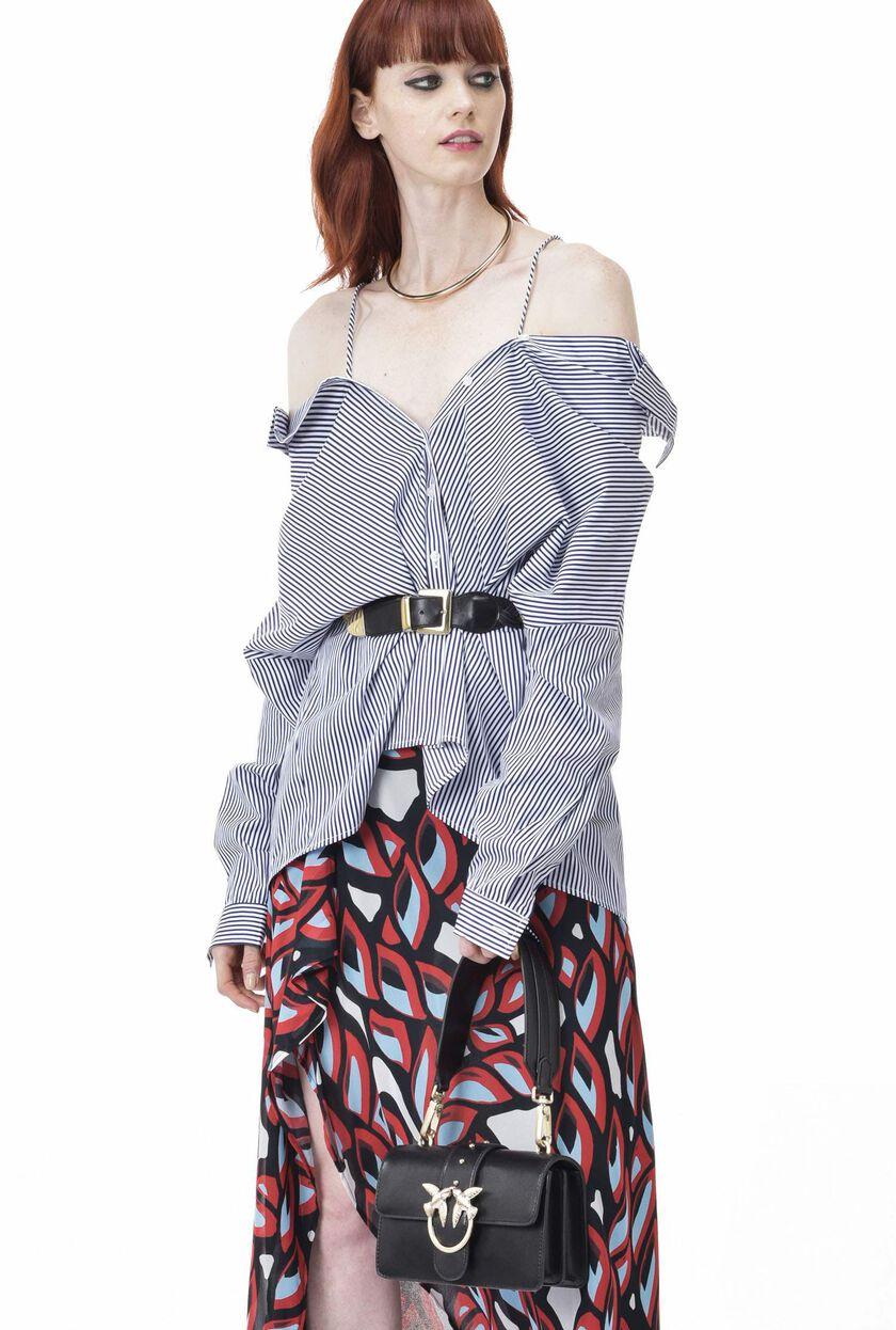 Stripe pattern poplin shirt