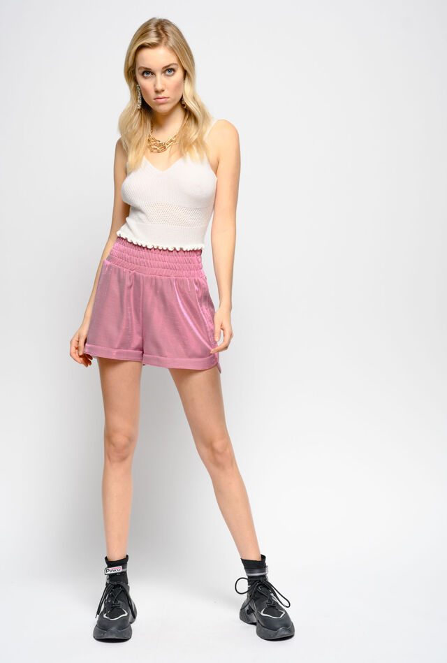 Shorts in tecno piquet lurex