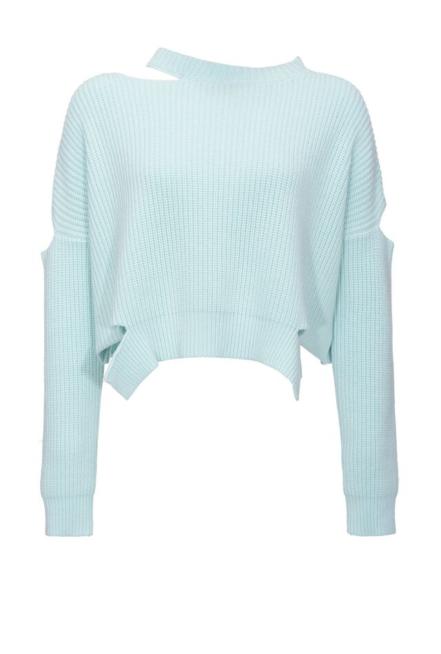 Pullover a costa inglese con cut-out