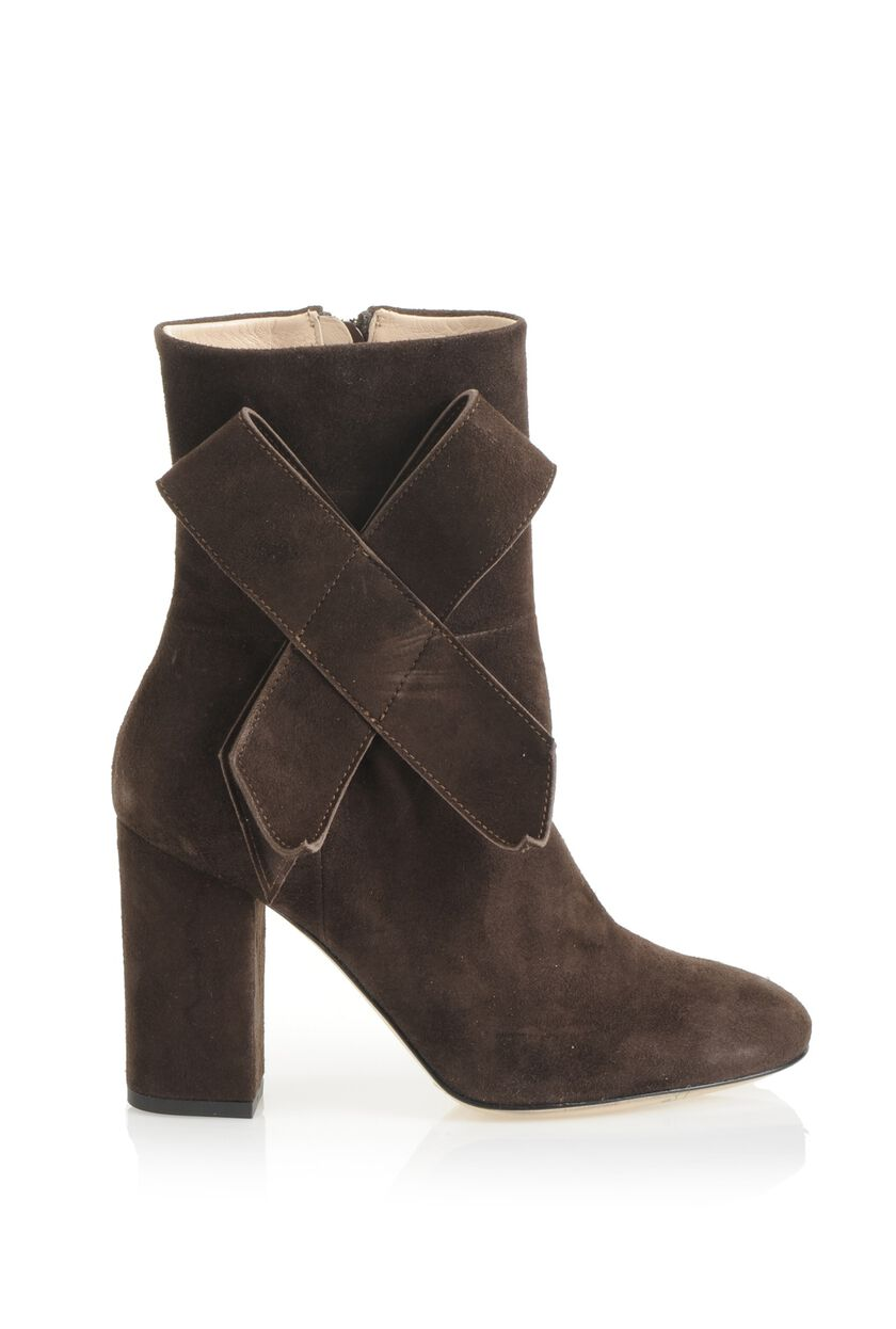 67c5077ec0c Sophisticated elegance comes in soft suede with these ankle boots ...