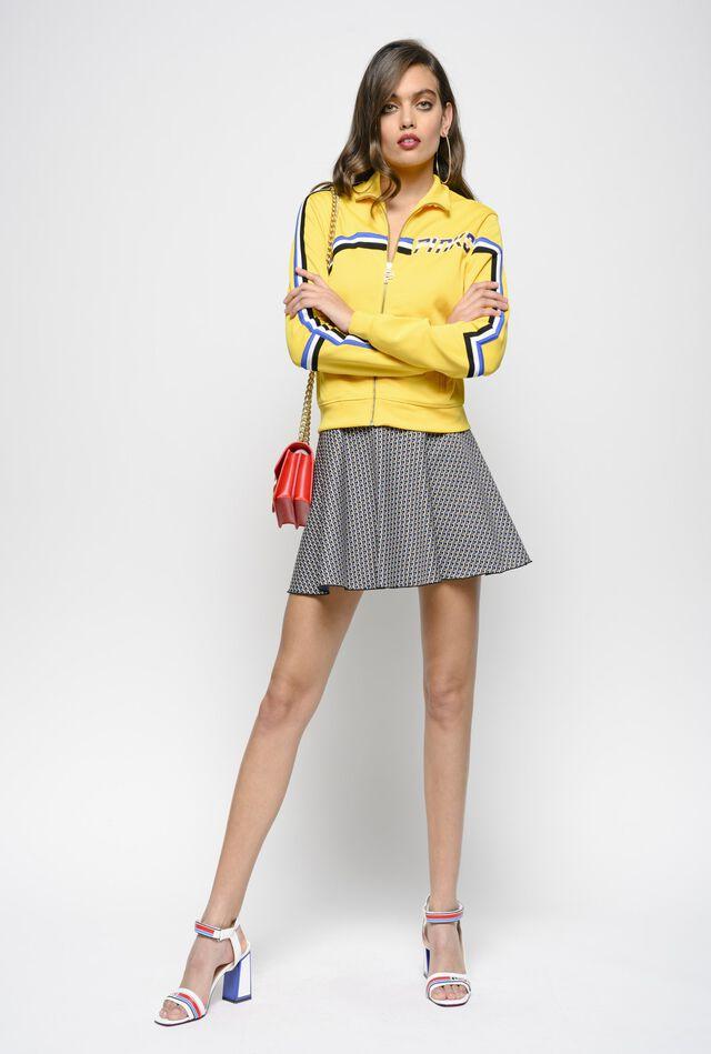 c0ec82ea3 Milano stitch micro geometric pattern jacquard mini skirt