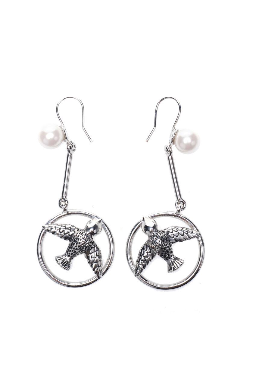 Metal and bead earrings