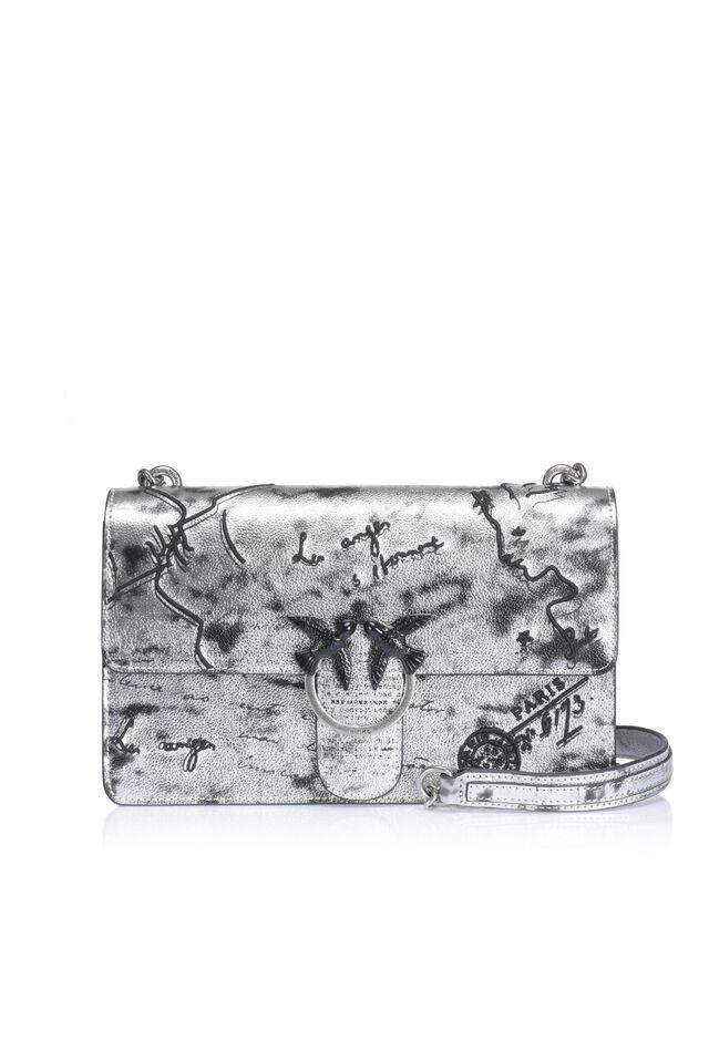 Love Bag Romantic in pelle stampata