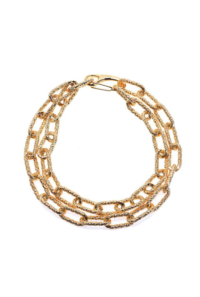 Faceted chain necklace