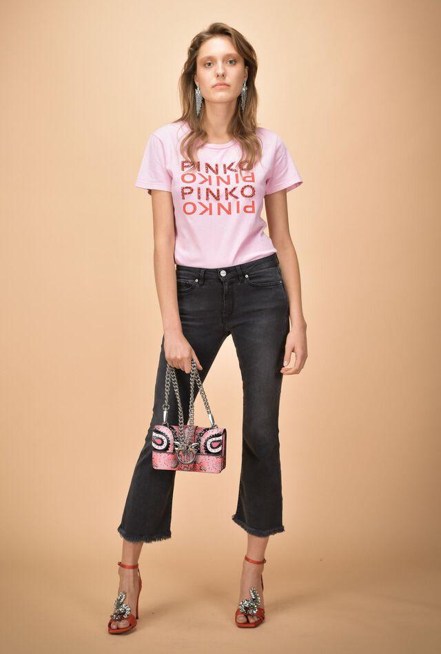 Boot-cut jeans in stretch fabric