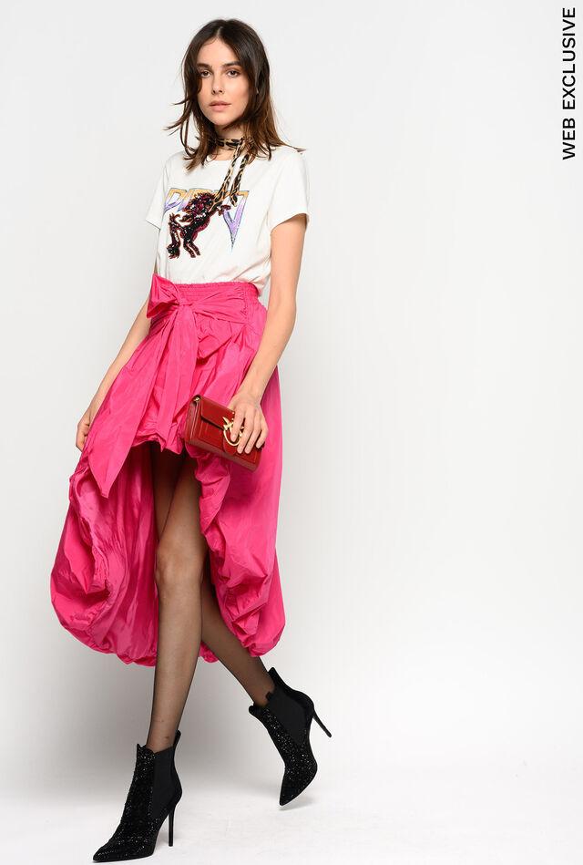 リボン付きタフタスカート