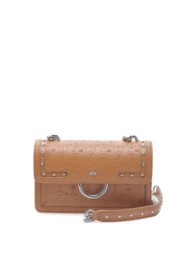 Mini Love Bag Monogram in pelle embossed