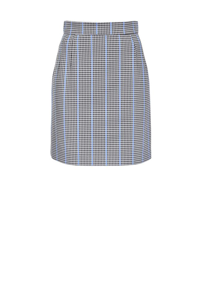Patterned Milano stitch mini skirt