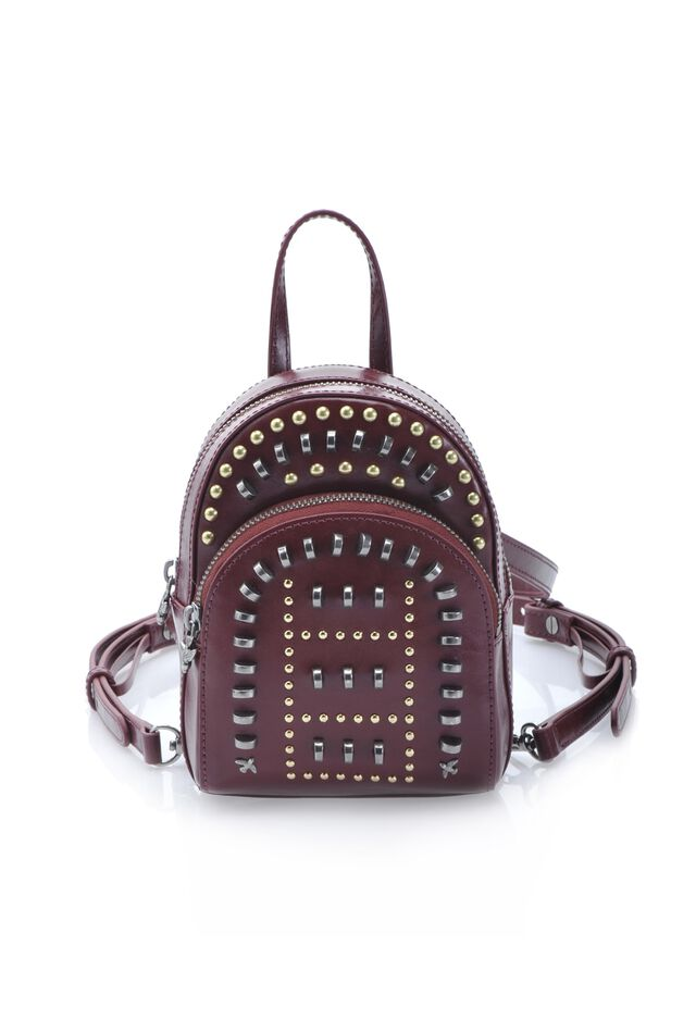 Mix Studs Baby Backpack in leather