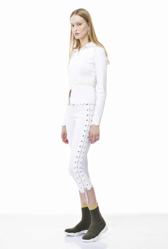 Leggings in textured technical jersey