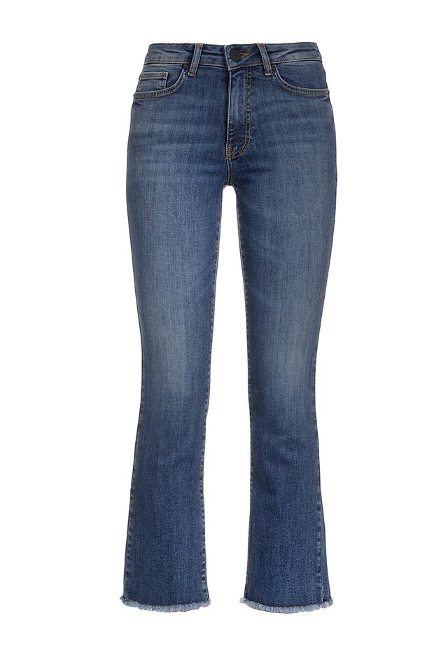 Jeans boot cut in denim power stretch