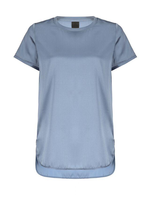 Stretch satin T-shirt