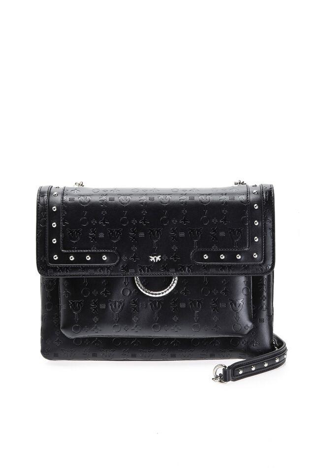 Soft Monogram Big Love Bag in embossed leather