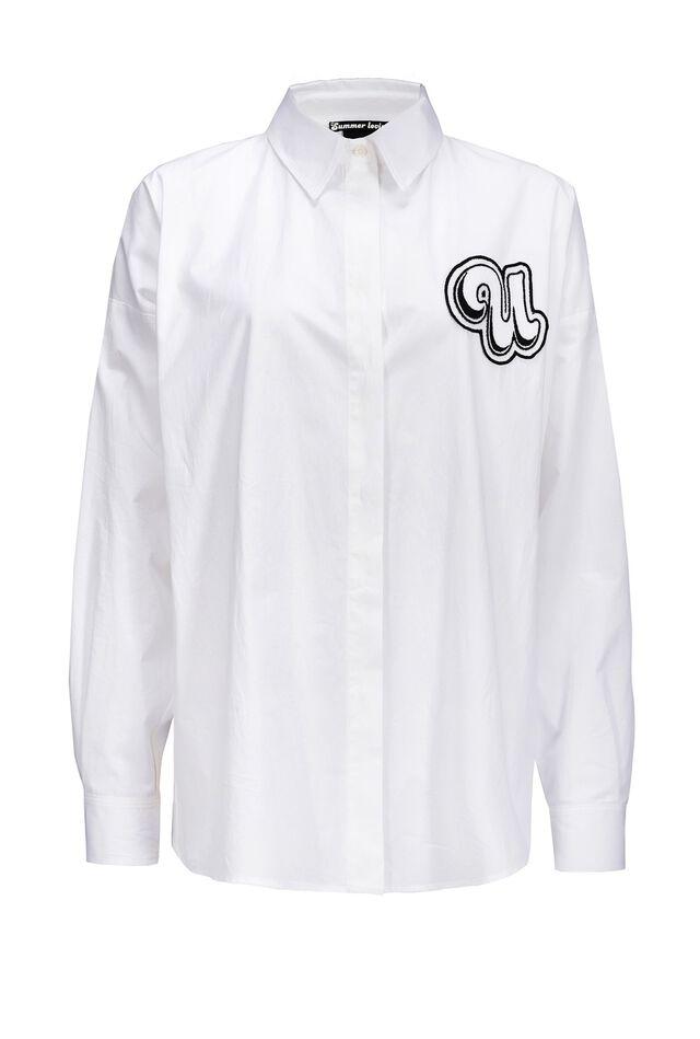 Oversize poplin shirt