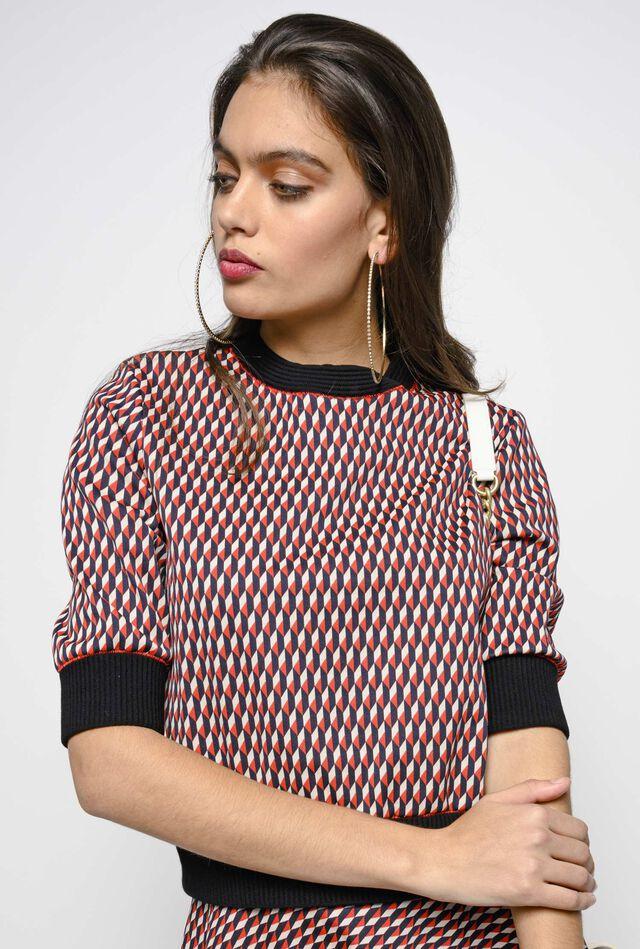 Milano stitch jacquard sweater