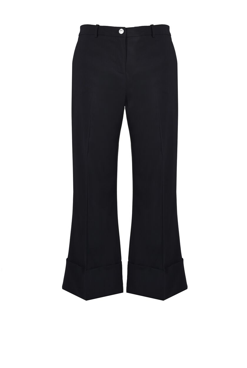 Pantalon en twill de viscose stretch