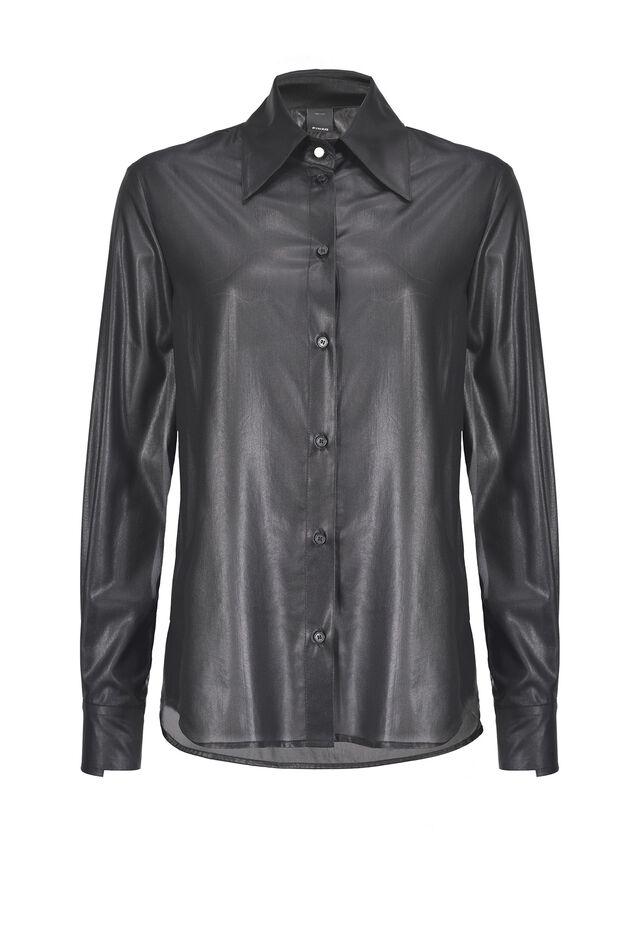 Camicia in georgette laminata