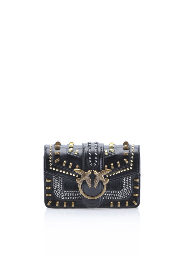 Mix Studs Baby Love Bag in leather