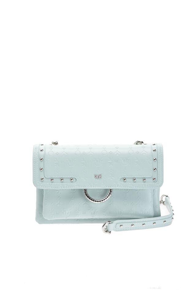 Mini Love Bag Soft Monogram in pelle embossed