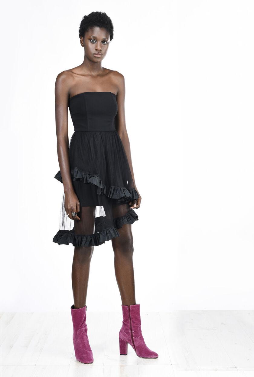 Vestido corto de crepé