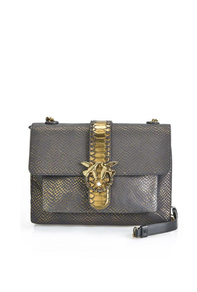 Python print leather Big Love Bag