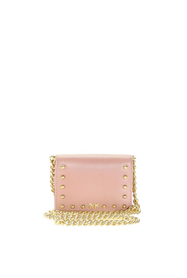 Mini card holder with shoulder strap