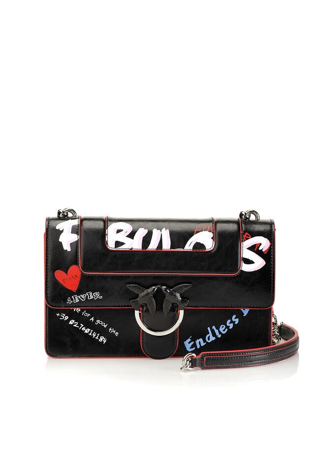 Love Bag Fabulous in graffiti print leather