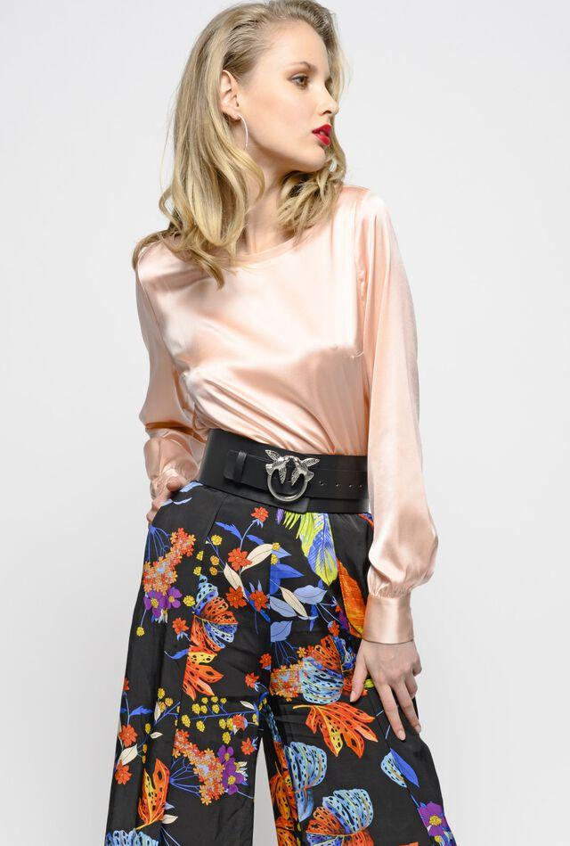 Блуза из шелкового атласа