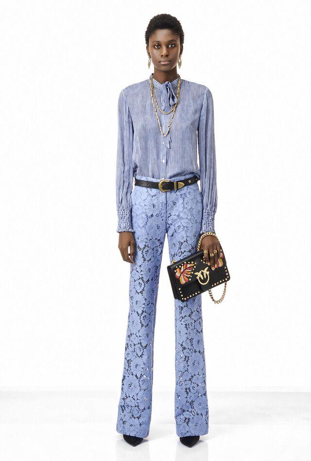 Pantalon en dentelle de coton