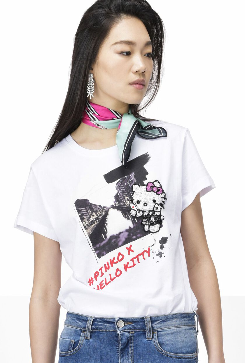 Printed T-shirt in cotton jersey