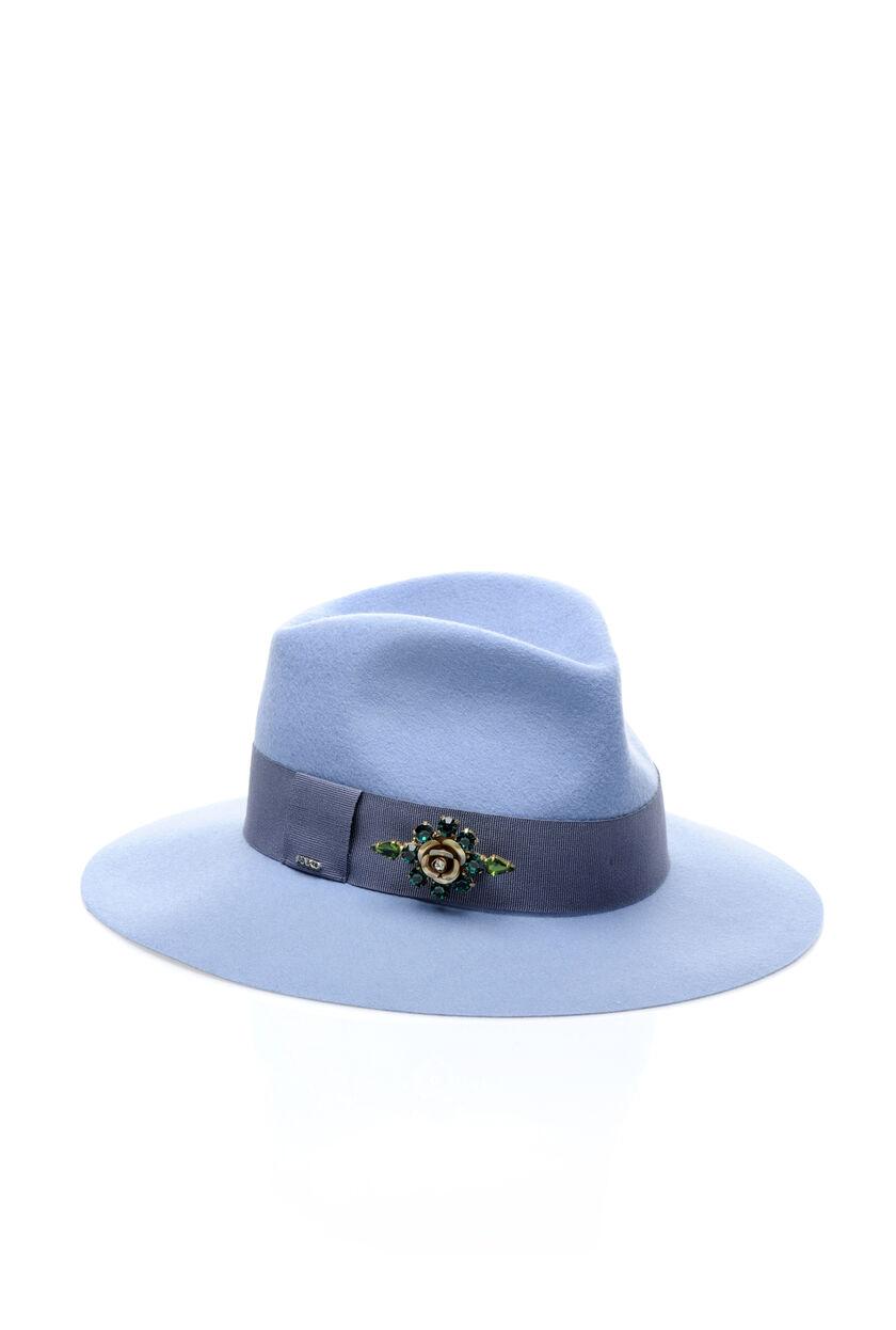 Cappello in feltro più pietre