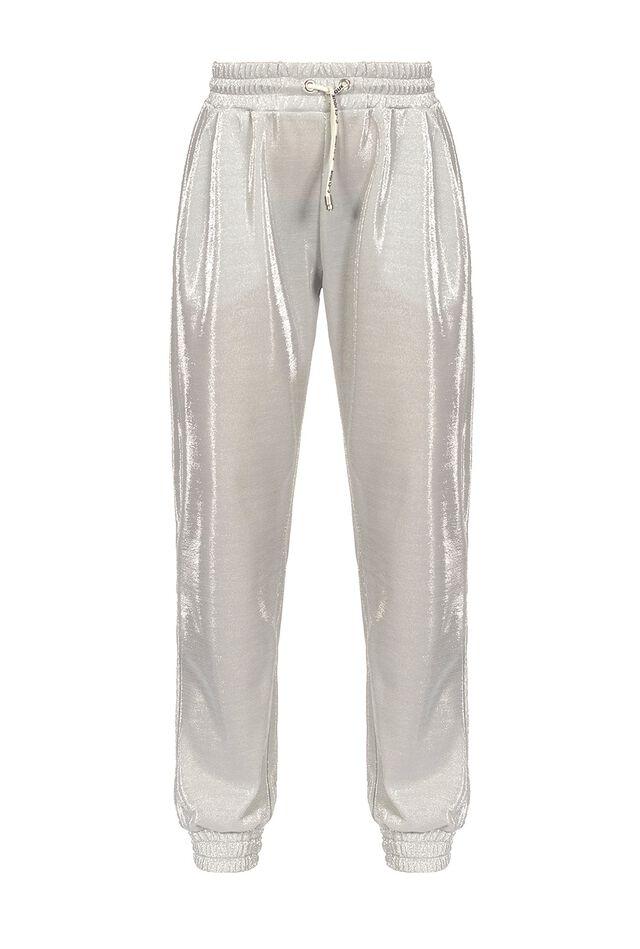 Pantaloni joggers in tecno piquet lurex