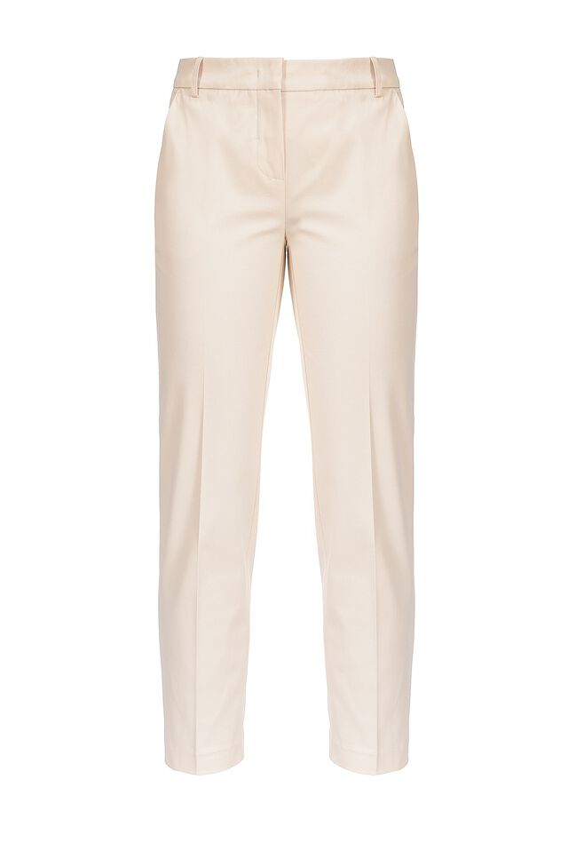 Pantaloni cigarette-fit luxury gabardine