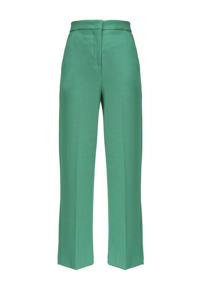 Pantaloni in tessuto giro inglese