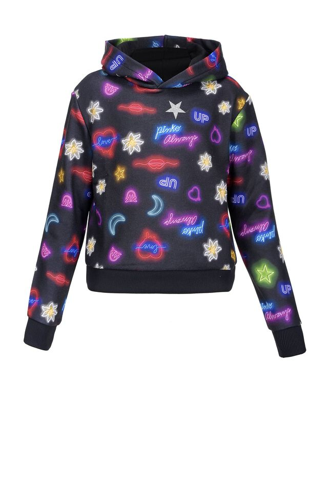 Neon print sweatshirt